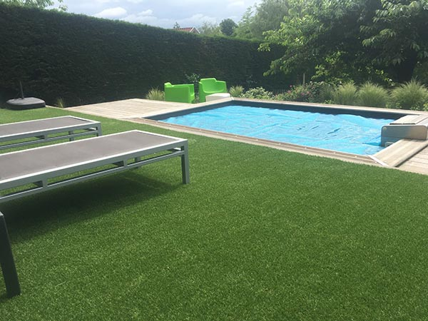 abords de piscine gazon synthétique supra