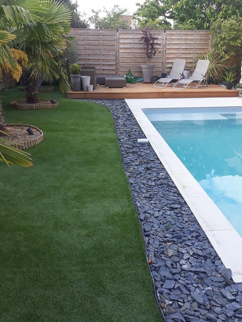 jardin piscine gazon synthétique look 30